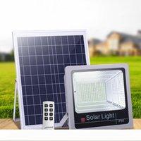주차장 마당 정원 거터를위한 LED 홍수 빛 100W 120W 슈퍼 밝은 직장 조명 6500K 화이트 라이트 IP66 태양 램프