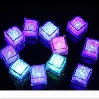 RGB LED вспышки куб зажигают лед Кубики огней вспыхнут жидкостный датчик воду Погружного LED Bar Light Up для клуба Wedding Party Шампань Tower