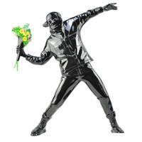 Banksy Blumen-Bomber Resin Figurine England Street Art Throwing Blume Skulptur Statue Bomber Polystone Figur