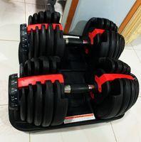 قابل للتعديل الدمبل 2.5-24 كيلوجرام اللياقةيات التدريبات الدمبل الأوزان بناء عضلاتكم الرياضية اللياقة البدنية المعدات ZZA2196Z البحر الشحن
