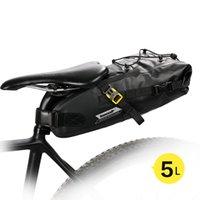 Rhinowalk 5л велосипед водонепроницаемый велосипед Saddle Bag Светоотражающие большой емкости Складная хвост сзади сумка Велоспорт MTB Магистральные Pannier MX200717