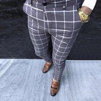 الرجال السراويل 2021 الرجال اللباس بانت منقوشة الأعمال عارضة يتأهل pantalon a carreau أوم الكلاسيكية خمر تحقق دعوى بنطلون الزفاف 2 #