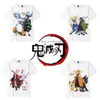 Anime Dämonentöter Kimetsu Keine Yaiba Cosplay Kamado Tanjirou Nezuko Agatsuma Zenitsu Unisex 3D-Druck Kurzarm T-Shirt