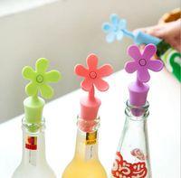 NEW Wiederverwendbare Silikon Weinstopper Sonnenblumenform Getränk Bier Ölflaschenverschlüsse Weinflaschenverschluss Champagner Wein Kork Ersatz für