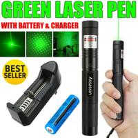 Laser verde 10Mile Adjuatable Foco Militar queima Pointer Pen Star Cap astronomia 5mW 532nm Toy Cat poderosa + 18650 Battery Charger +