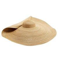 El nuevo verano de gran tamaño sombreros de la playa para las mujeres 25CM ala manera del partido de Protección Solar gran sombrero de paja sombrero de viajes Dropshipping Y200716