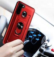 Pour iPhone12 11 PRO Max XS 6 7 8 Plus Couche d'armure robuste Travailler avec un boîtier de protection de la carrosserie de voiture magnétique