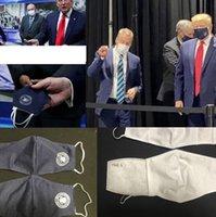 Trumpf gleicher Stil Maske Trump 2020 wiederverwendbare waschbare Baumwolle Antinebel-Maske und Staub kann PM2.5 Filterkissen Masken verwenden LJJK2407