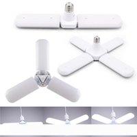 30W 45W 60W E27 LED Ampüller SMD2835 Süper Parlak Katlanabilir Fan Blade Açısı Ayarlanabilir Tavan Lambası Ev Enerji Tasarrufu Işıklar
