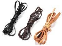 30M / 30pcs reale echte Kuh-Leder-Schnur Breite Flach Seil-Schnur-Armband-Halskette DIY 4mm DIY Schmuck Accessoires