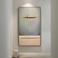 New minimalista Estilo Abstract Boat Paisagem Natural Wall Art Pictures Pintura Wall Art para Living Room Home Decor (No Frame)
