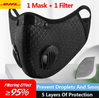 米国の在庫!デザイナーの高級サイクリングフェイスマスク活性炭のターミネーションPM2.5汚染防止スポーツランニングトレーニング保護ダストマスク