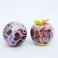 10cm o.m.g. Royal Fruit Ball Série de Cabelo Longa Moda Boneca Figura Figura Brinquedo Crianças Desembalar Dolls Girls Engraçado Dress Up Presente DHL DHL