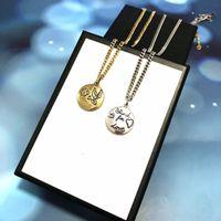 Best Selling Plating Gold Silver Pares Collar Collar de material de latón de alta calidad Collar de moda Personalidad Collar Suministro