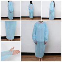 Vestuário de protecção descartáveis Isolamento Vestidos Macacão CPE roupa elástica punhos Anti Poeira Outdoor Vestuário de protecção Raincoats RRA3316