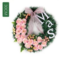 Christmas Wreath Mas Letter Rose PVC Wreath Home Hotel Mall ...