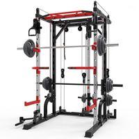 Smith Makinesi Çelik Squat Raf Gantry Çerçeve Fitness Ev Kapsamlı Eğitim Cihazı Ücretsiz Squat Bench Basın Çerçevesi.1