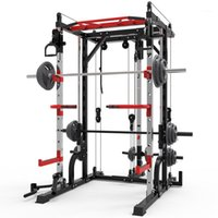 Smith Maschine Stahl Squat Rack Portalrahmen Fitness nach Hause umfassende Trainingsgerät frei Hocke Bankdrücken frame.1