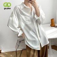 Kadın Bluzlar Gömlek Gezi Vintage Beyaz Bluz Kadın Erkek Arkadaşı Tops Tee Gömlek Uzun Femme Blusen Damen Blusas de Mujer Bluzka Damska C1