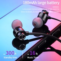 Wireless Headphones V5.0 Bluetooth Earphone Neckband Sports Stereo Headset with Mic for Xiaomi iphone all phone Magnetic Earbuds