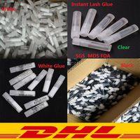 أرخص جودة عالية رمش الغراء 2ML البلاستيك أنبوب مسطح واضح رمش الغراء الغراء مصغرة للرموش