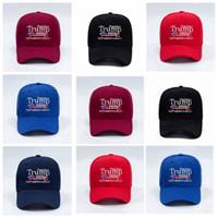 Donald Trump Baseball-Mütze USA-Flagge Cap Trump 2020 Hüte 3D-Stickerei Brief Hysteresen für Partybedarf 5styles RRA3375