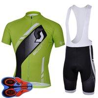 Scott Team Ropa Ciclismo transpirable para hombre ciclismo de manga corta jersey pantalones cortos de babero Conjunto de ropa de verano Ropa de carreras al aire libre Bicicleta Uniforme Sports Traje S210042074