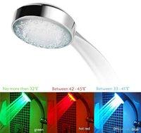 RGB automatischer Farbwechsel beleuchtet Badezimmer LED-Duschkopf im Dunkeln leuchten keine Batterie LED Duschkopf Wasserstromenergie