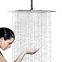 20 pulgadas / 24 pulgadas con cabezal de ducha de lluvia cuadrada de acero inoxidable de acero inoxidable de alta presión cabezal de ducha de cromo techo de montaje en pared