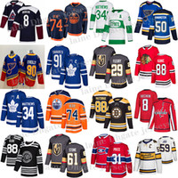 토론토 메이플 leafs 저지 91 John Tavares 34 오스톤 매튜 에드먼턴 ousters 97 Connor McDavid Vegas Golden Knights 29 Fleury Hockey Jerseys