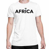 Manga curta Crew Neck Tees África Mens Africano País Ganhos Camiseta Branco Tamanho S 3XL estranho camisetas T Shirt loja online da Lorsoul, OtRY #
