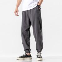 Chinesische Stil Frühling Harem Joggers Männer 2020 Sommer Casual Hosen Männer Solid Streetwear Knöchellangen Hose Asiatische Größe