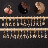 Singolo CZ Lettera dalla A alla Z goccia di polsino Orecchino alfabeto orecchini per donne della ragazza di San Valentino regalo unico personalizzato di gioielli