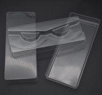 مل 3pcs / مجموعة شفاف الرموش التغليف البلاستيكية صندوق همية رمش علبة التخزين غطاء حالة واحدة مع 2 غطاء شفاف 1 مسح صينية