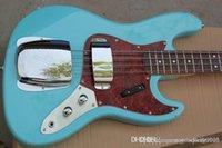 Cuerpo personalizado de alta calidad Cuerpo de caoba 4 cuerda FD Signature Sky Blue Jazz Bass Guitarra