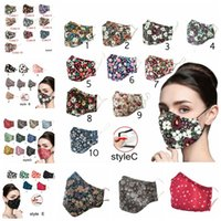 Mix Styles Adult Printed Cotton Mask Dustproof Filter Breath...