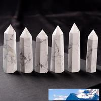طبيعي الأبيض الفيروز كريستال برج الكوارتز الكوارتز نقطة كريستال الأبيض ستون مسلة العصا الشفاء كريستال 6.5-8cm