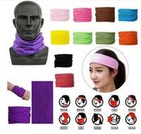25 цветов Мода Бандан Face Mask Спорт на открытом воздухе оголовье Тюрбан Wristband платок шея Gaiter Магия шарфы Велоспорт Маску для лица CYZ2547