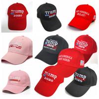 Trump Baseball Hat 9 Styles Président Donald Trump 2020 Sun Visor Keep Make America Great Encore une fois Snapback Trump balle Caps CCA12374 200pcs