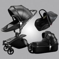 1 bebek arabası pu deri Aulon bebek arabası 3 oturup dört mevsim kış ücretsiz kargo dünya çapında HeQ7 # uzanabilirsin