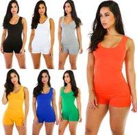 Designer Mulheres Jumpsuit Sexy Romper Bodysuit Bodycon profunda V pescoço curto Pant Manga Terno tanque desportivo Feminino fatos para brincar livre DHL