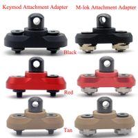 Aplus Keymod / M-lok-Riemen-Schwenker Bolzenbefestigung Schienenbefestigungsadapter für KEYMOD / mlok Begrenzungsscheibe Schiene System_Black / Rot / Tan Farbe