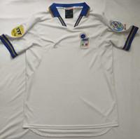 Retro Italien Fußball-Trikots Titti Pirlo Baggio Inzaghi del Piero Cannavaro Maldini Nesta Barsi Vieri Vintage 1994 96 98 Italia Classic Shirt