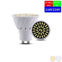 10pcs / lot MR16 GU10 E27 LED-Strahler 110V 220V Led-Lampen-Birne hohe helles Licht SMD5733 4W 6W 8W Lampara Für Privatanwender Lampen