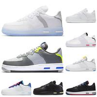 New Light os 1 React chaussures de course triple blanc loup gris USA Astronomy bleu formateurs des femmes des hommes de sport chaussures de sport de jogging marche coureurs