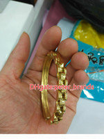 Stainless steel men' s bangles gold silver luxury style ...
