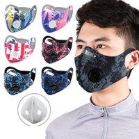Ciclismo mascarilla de la máscara al aire libre a prueba de viento Entrenar polvo PM 2.5 Prueba anti-contaminación Ejecución de filtro de carbón Máscara lavable EEA1761
