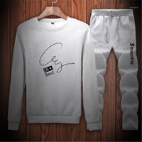 Fashion Male New Thin Sport Sweater Two Piece Sets Clothing ...
