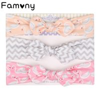 3Pcs Set Ears Cotton Headbands for Kids Soft Knotted Stretchy Elastic Printed Hair Bands Newborn Girls Hair Accessories