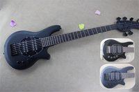 送料無料音楽M 6文字列ベース、ボンゴベースギター、ブラックギター、バッテリーパック、ローズウッドフィンガーボードムーンインレイ、24フレット、HHピックアップ